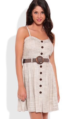 deb shops corset dress with spaghetti straps and belted