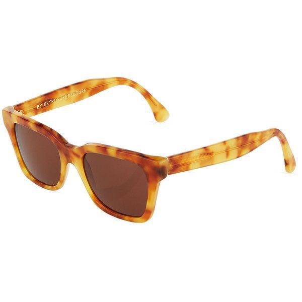 f073158f64f8 Super By Retrosuperfuture America Tortoise-Print Square Sunglasses ($125) ❤  liked on Polyvore featuring accessories, eyewear, sunglasses, tortoiseshell  ...