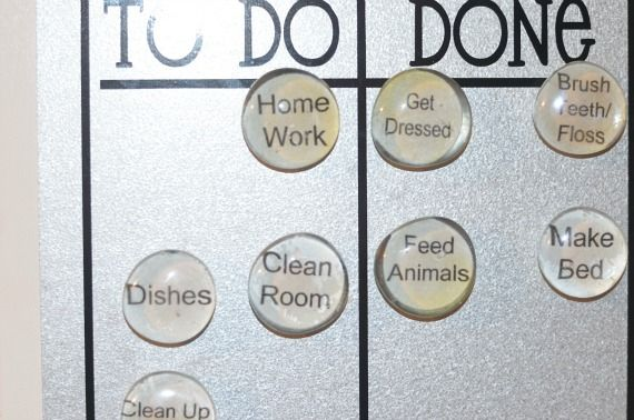 Vinyl chore chart w magnets i did a chore chart similar to this