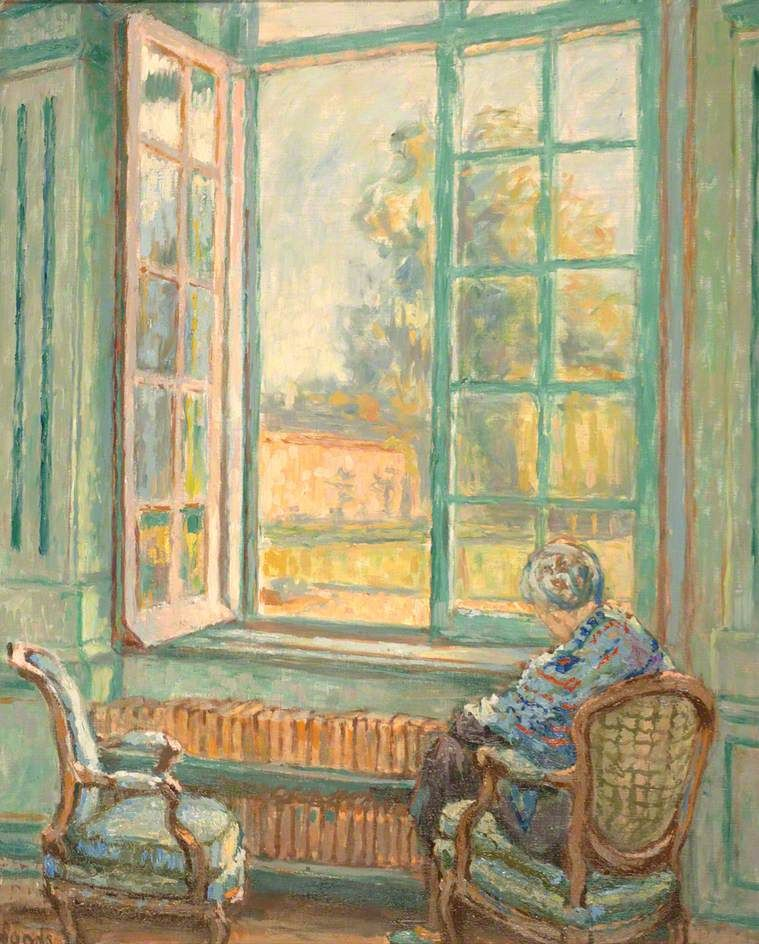 Ethel Sands (1873\u20131962) - Figure Seated by an Open Window Paysages