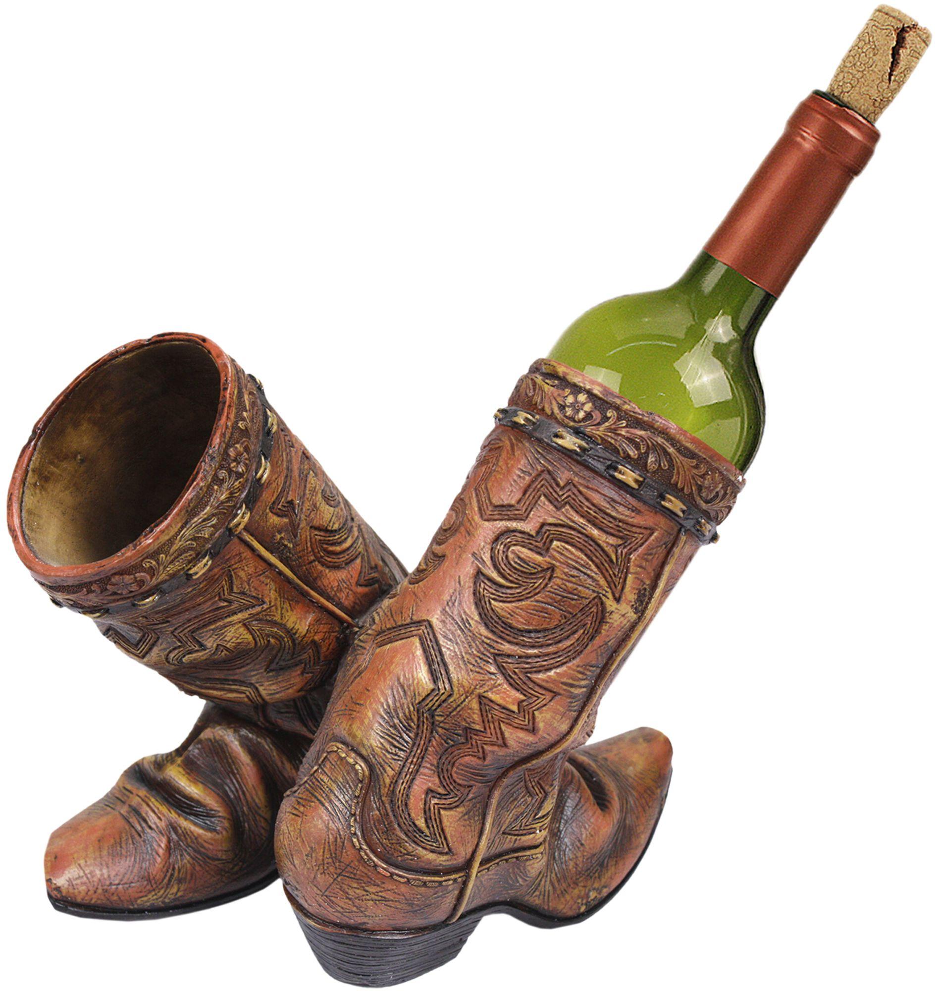 Porta vinho Country Importado Para Duas Garrafas Bota Rústica Porta vinho  para duas garrafas. Produto 650168497bd