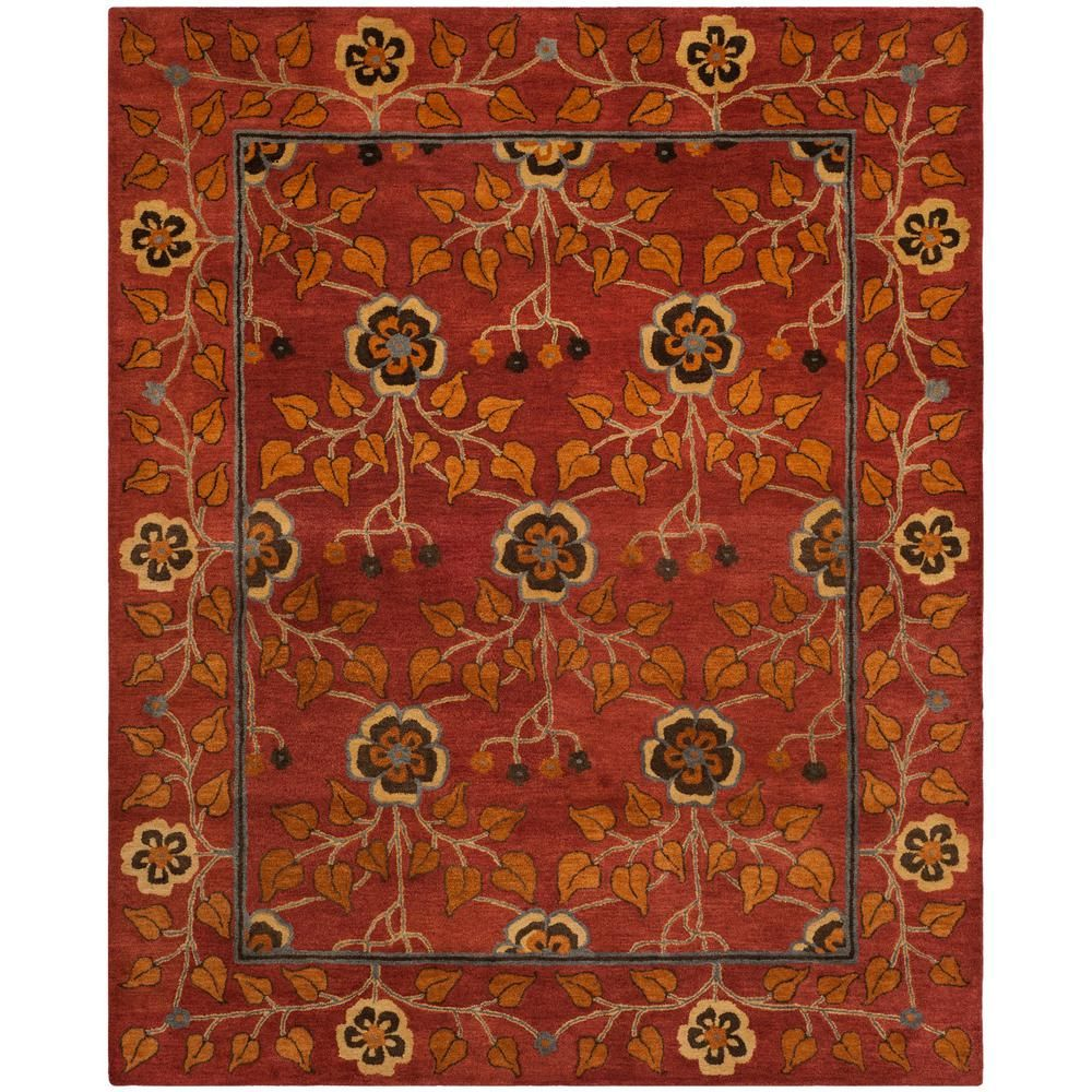 Safavieh Heritage Red Multi 8 Ft X 10 Ft Area Rug Hg407a 8