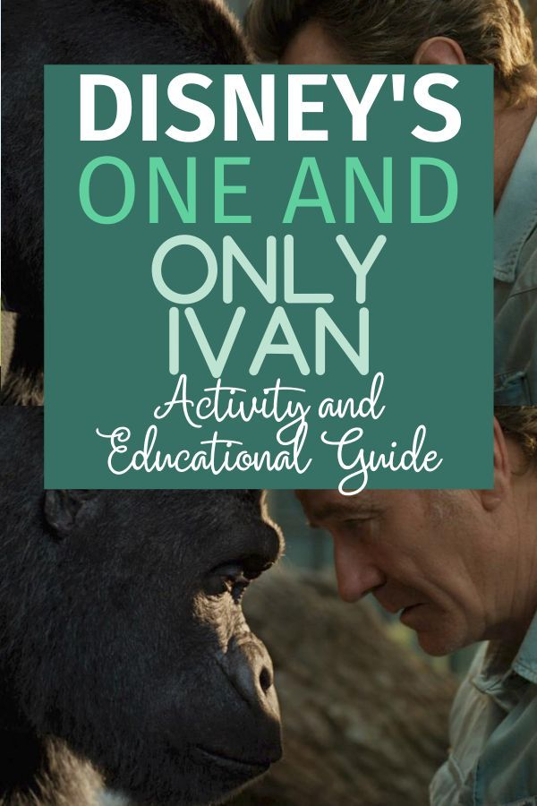 The One and Only Ivan free activity and educational guide is here! Available now on Disney Plus starring Sam Rockwell. #oneandonlyivan #disneyplus #homeschooling #oneandonlyivan