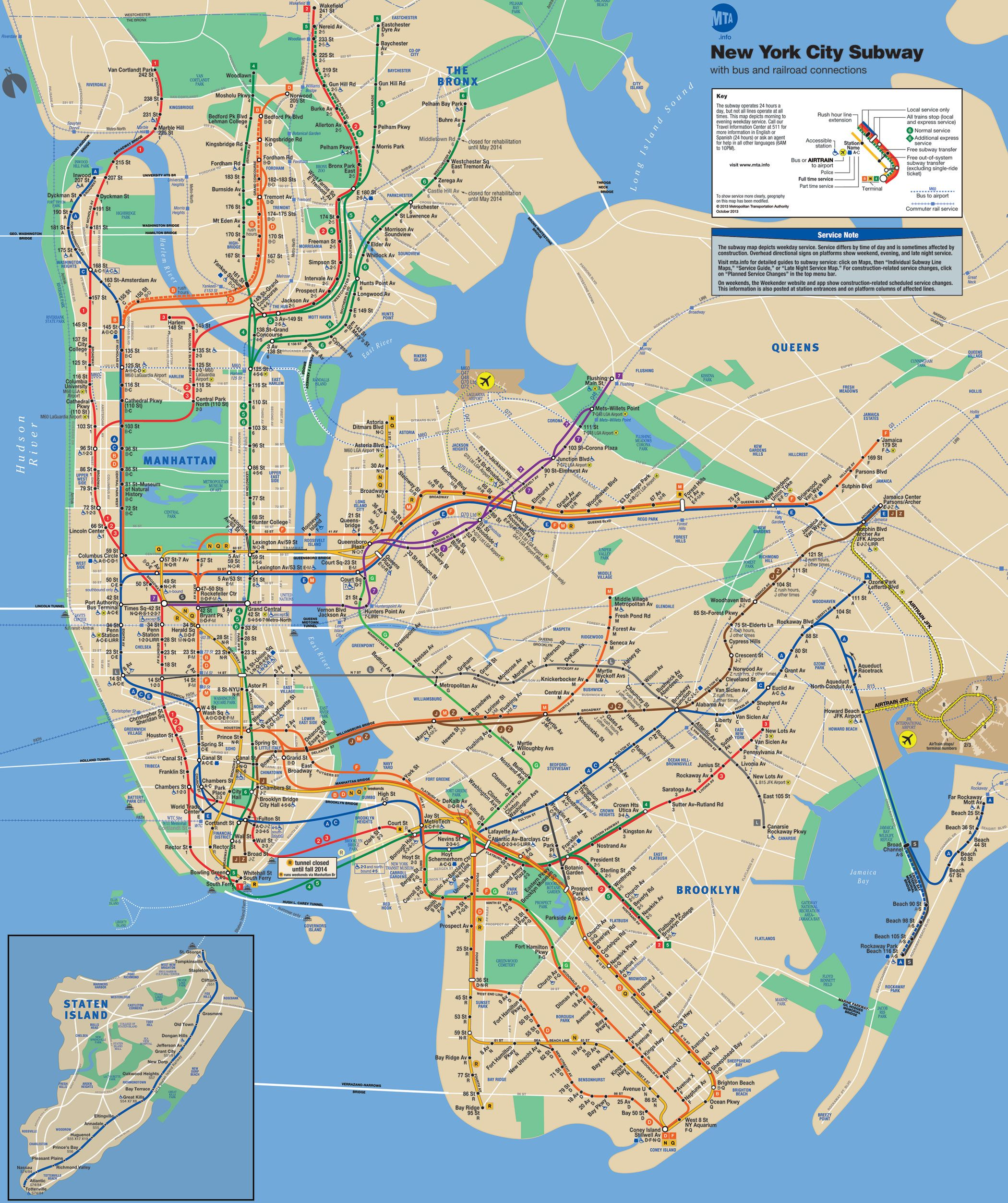 mta brooklyn train map Mta Info Mta Subway Map Map Of New York Nyc Subway Map Train Map mta brooklyn train map