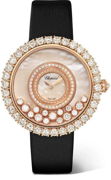 Happy Dreams 36mm Satin, 18-karat Rose Gold, Diamond And Mother-of-pearl Watch - one size Chopard