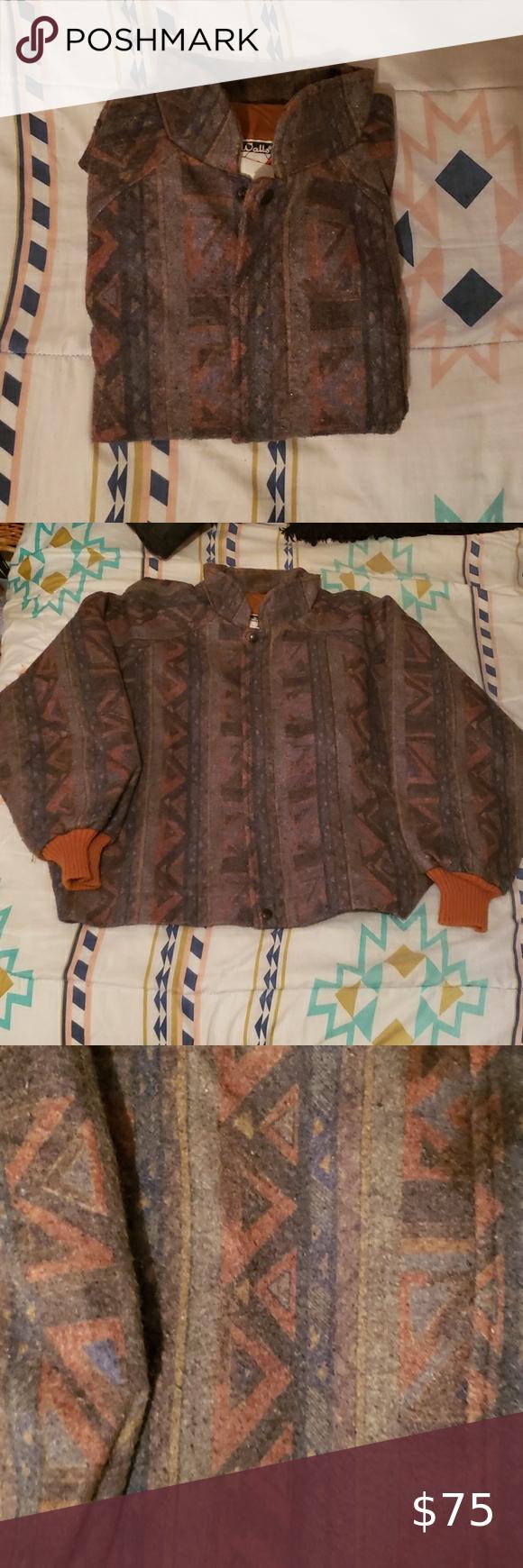 Vintage Mountain Native Navajo Bomber Jacket Usa Bomber Jacket Warm In The Winter Mountain Jacket [ 1740 x 580 Pixel ]