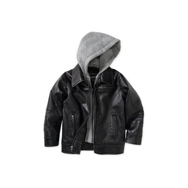 Black Rivet Faux Leather Jacket Little Boys 29 Liked