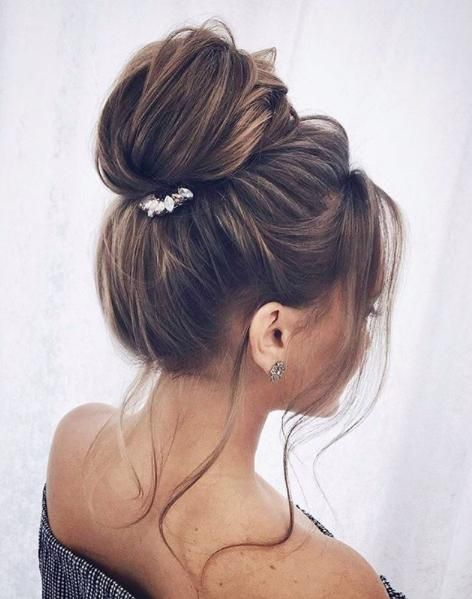 Knot Top With Clip Global Group Decoration Bun Hairstyles Bun Hairstyles For Long Hair Hair Type