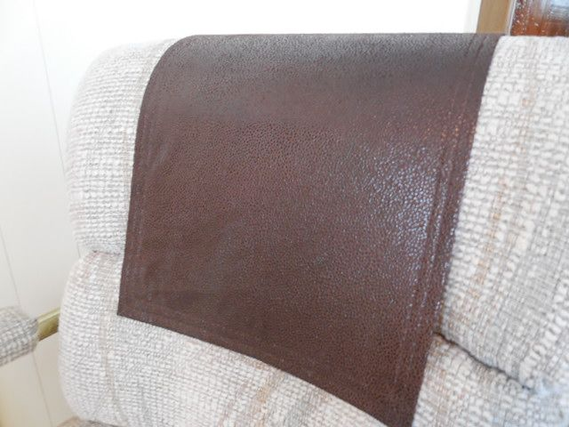 Chair Recliner Headrest Cap Leather Look Animal Friendly