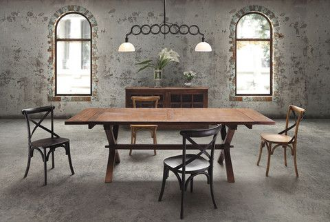Zuo Laurel Heights Dining Table Distressed Natural.