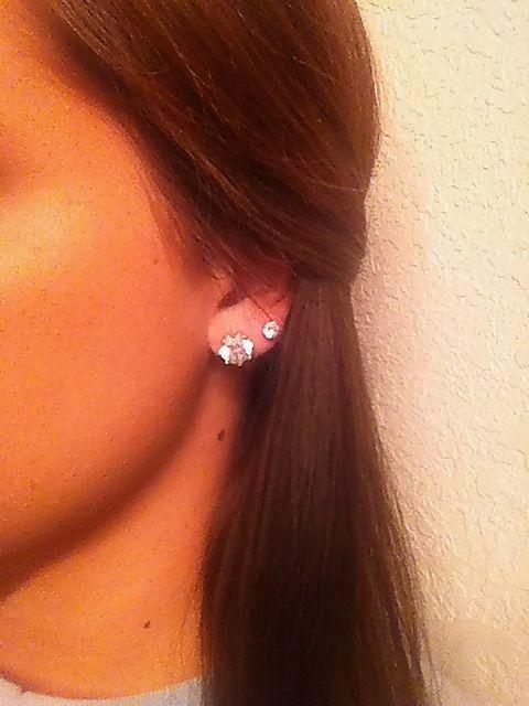 Love Second Hole Piercings Jewelry Piercings Double Ear