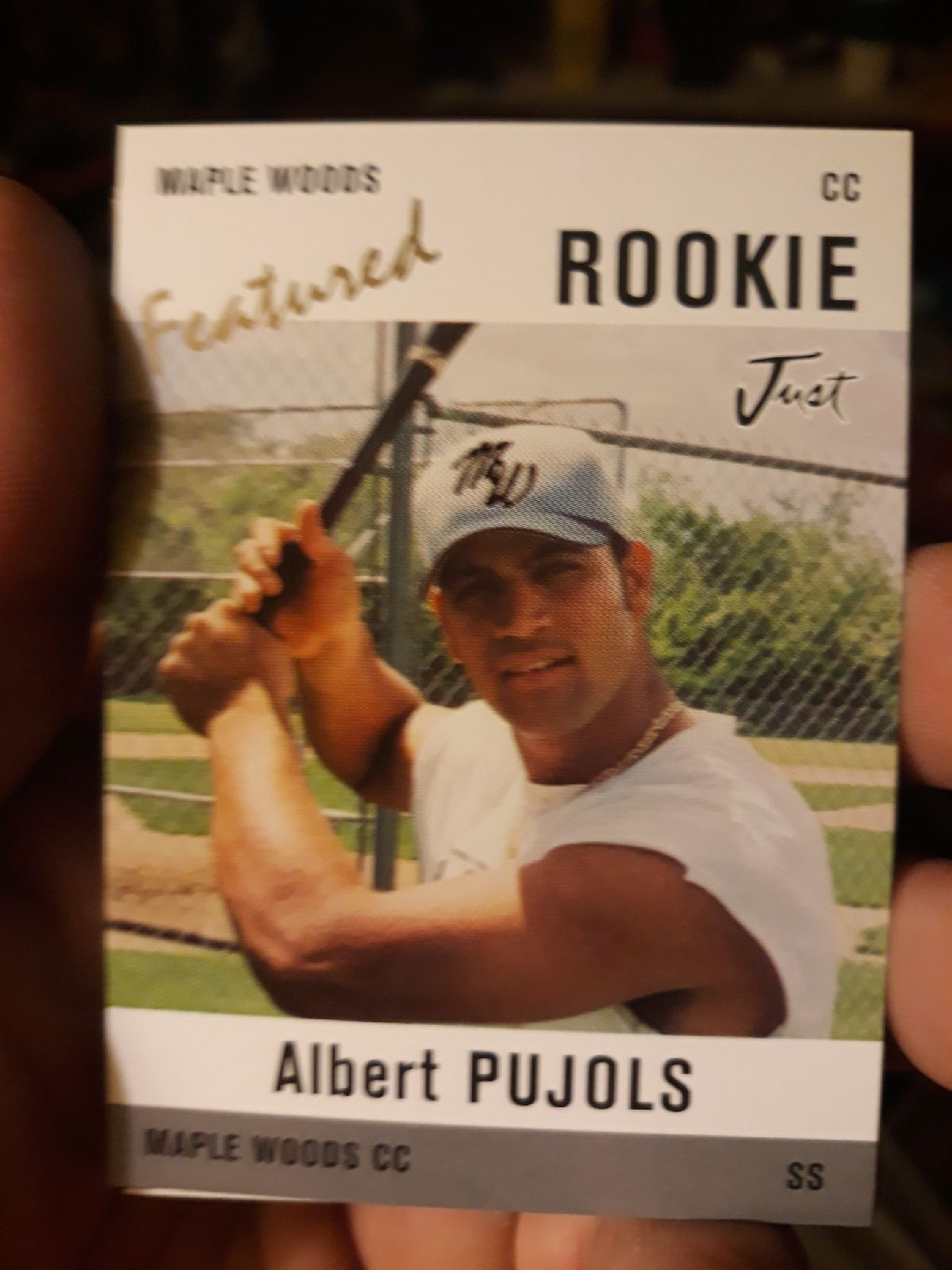 1999 just minors albert pujols rookie card featured insert
