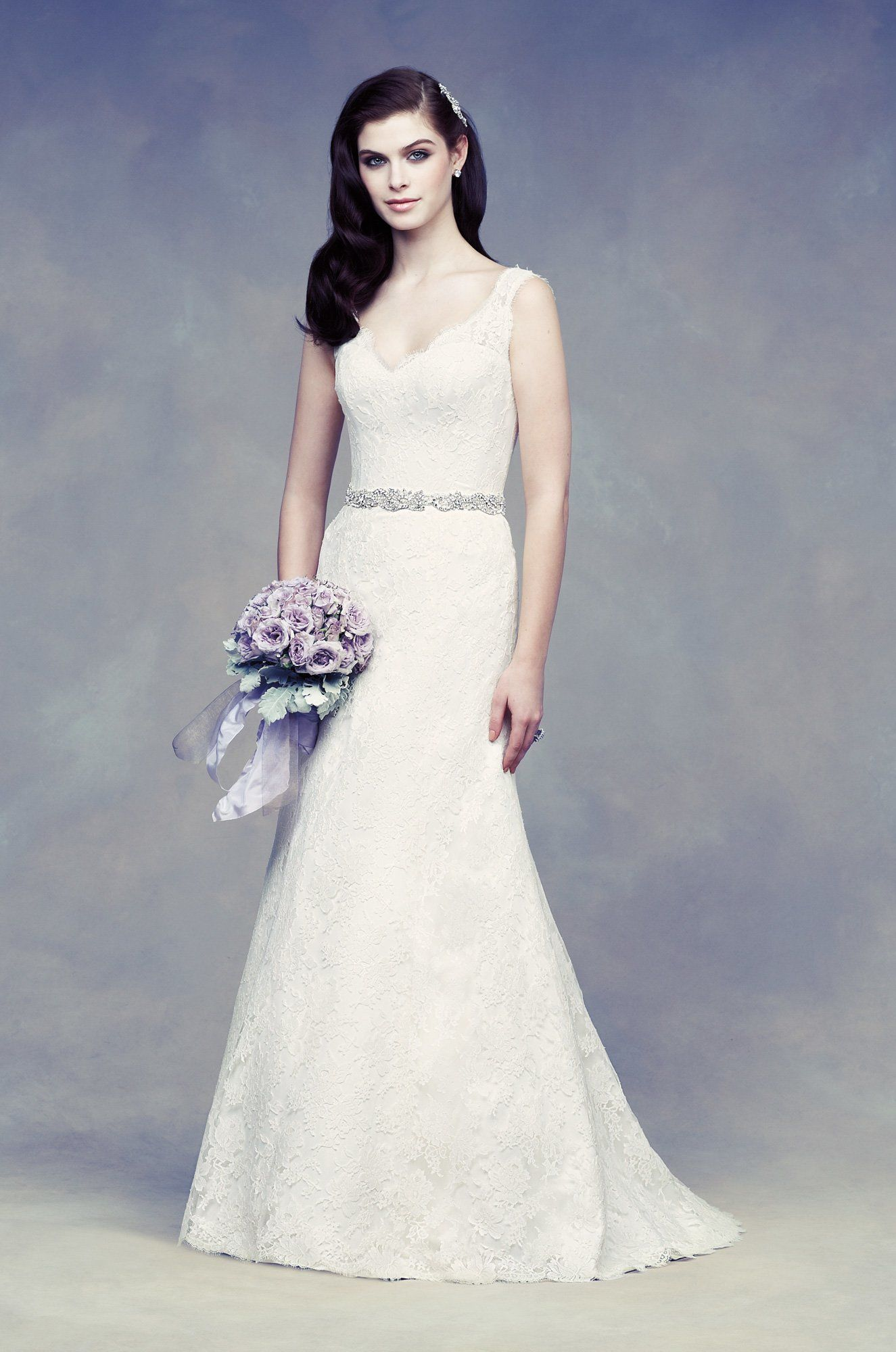 View chantilly lace wedding dress style from paloma blanca