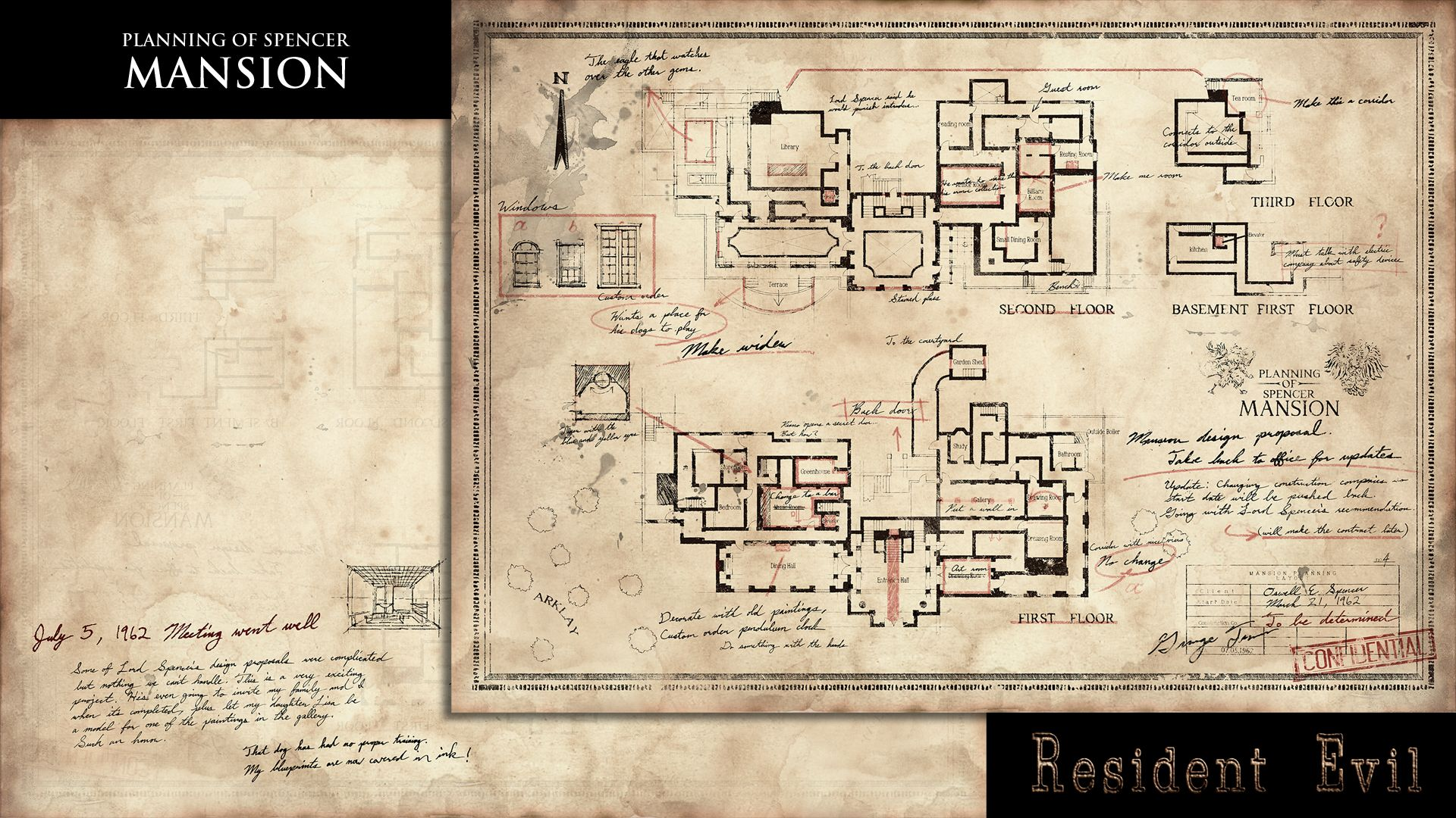Resident Evil HD Remaster Planning of Spencer Mansion