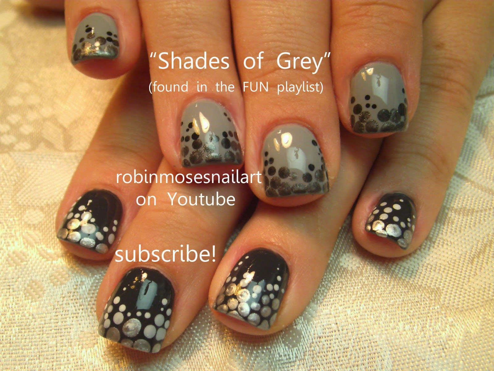 Fifty shades of grey nails Pinterest   Nailed It To The Game ...
