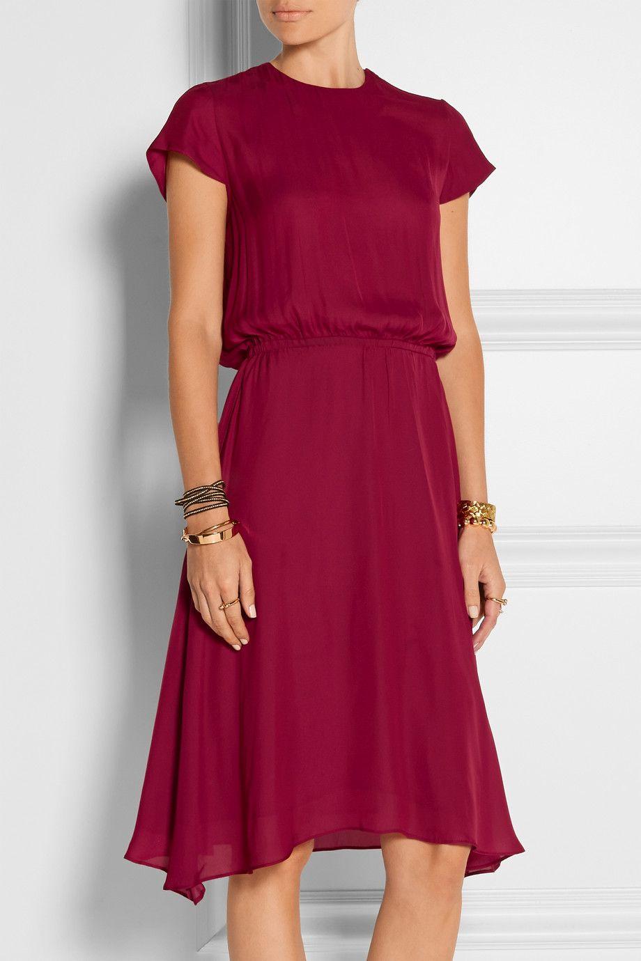 goedkoop te koop lagere prijs met New York Étoile Isabel Marant   Brazen satin dress   NET-A-PORTER.COM ...