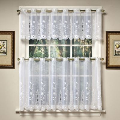 Today S Curtain Samantha 24 Inch Sheer Window Tier Pairs In White