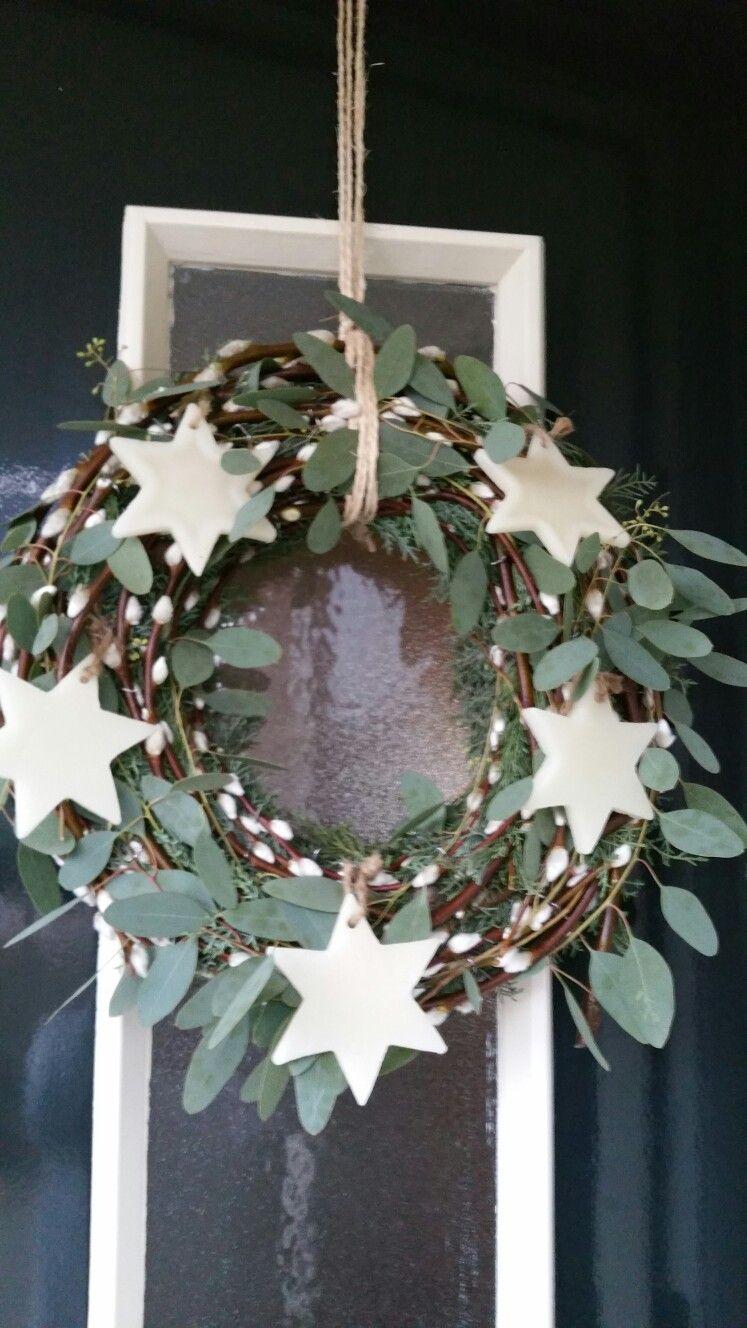 zelfgemaakte kerstkrans