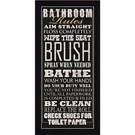 Buyartforless Bathroom Rules I Framed Wall Art By Jim Baldwin Walmart Com Bathroom Rules Bathroom Rules Wall Art Bathroom Wall Plaques