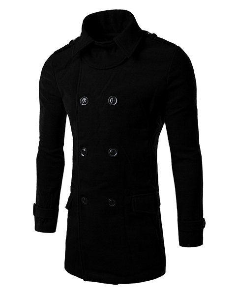 Spirio Mens Embroidery Long Sleeve Turn Down Collar Slim Trendy Button Down Blouse Shirt