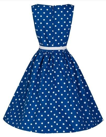 robe à pois -bleu -French SheIn(Sheinside)