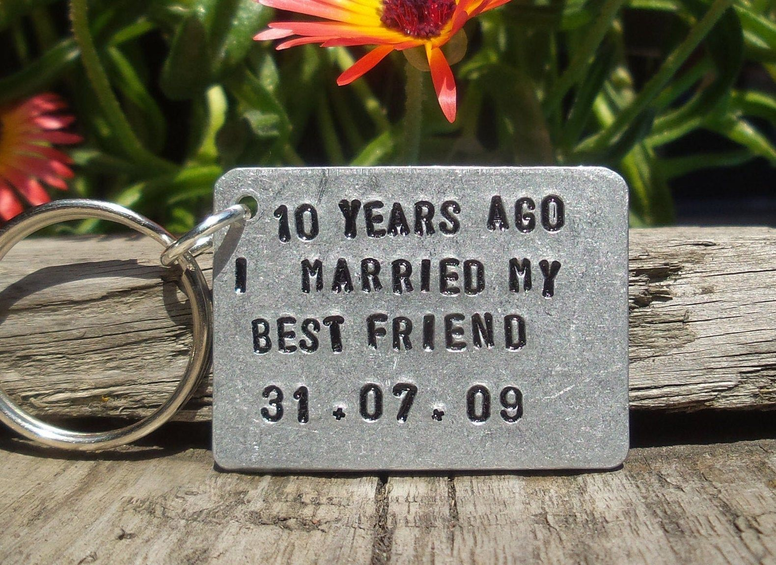 10 Years Ago I Married My Best Friend Personalised 10th Wedding
