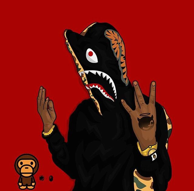 Pin By Annalisa Hackett On Hip Hop Dark Anime Guys Bape Shark