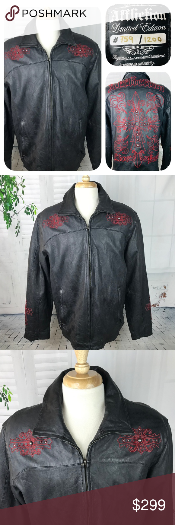 Affliction Men's Limited Edition Leather Jacket XL