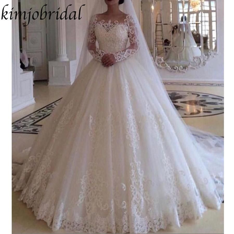 Ball Gown Wedding Dresses 2019 Sweetheart Neckline Long Sleeve Lace Floor Length Long Sleeve Wedding Dress Lace Wedding Dress Long Sleeve Wedding Dresses Lace,Plus Size Wedding Dresses