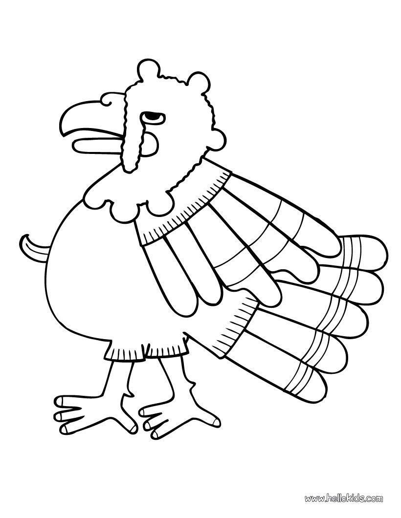 Turkey coloring page. Nice bird coloring sheet. More ...