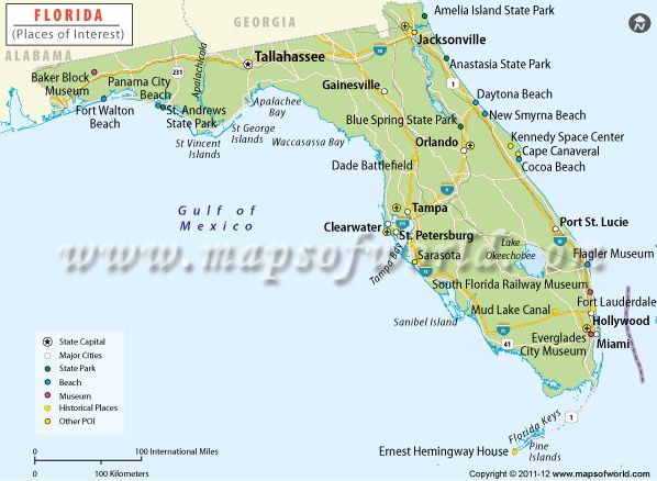 st vincent island florida map Places To Visit In Florida Florida Tourist Attractions Map