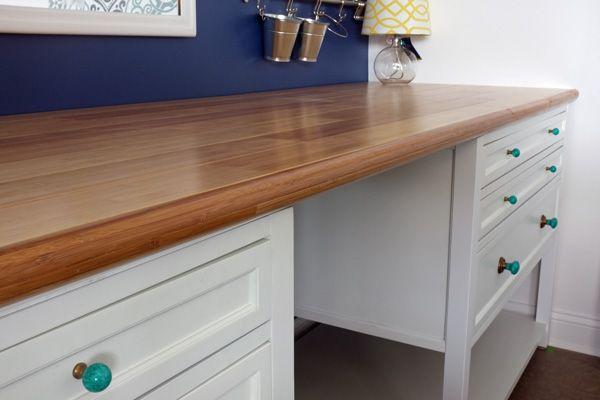 Diy Custom Bamboo Countertop Bamboo Countertop Countertops Diy Furniture