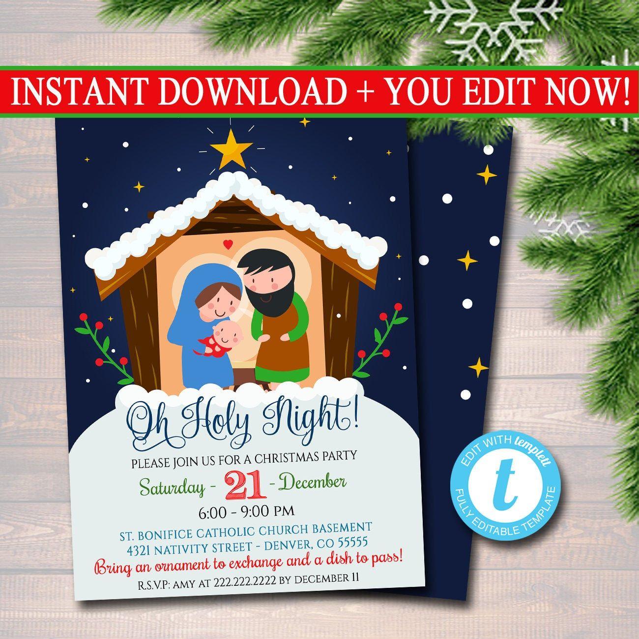 EDITABLE Religous Christmas Invitation, Reason for the