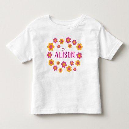 Toddler Summer GIRLS Childrens PERSONALISED NAME PINK /& WHITE TSHIRT /& SHORTS
