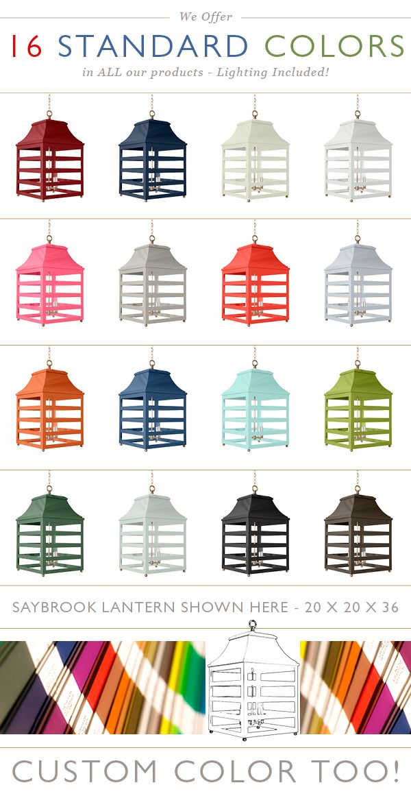 Our wonderful new SAYBROOK lantern. A statement piece in every color!