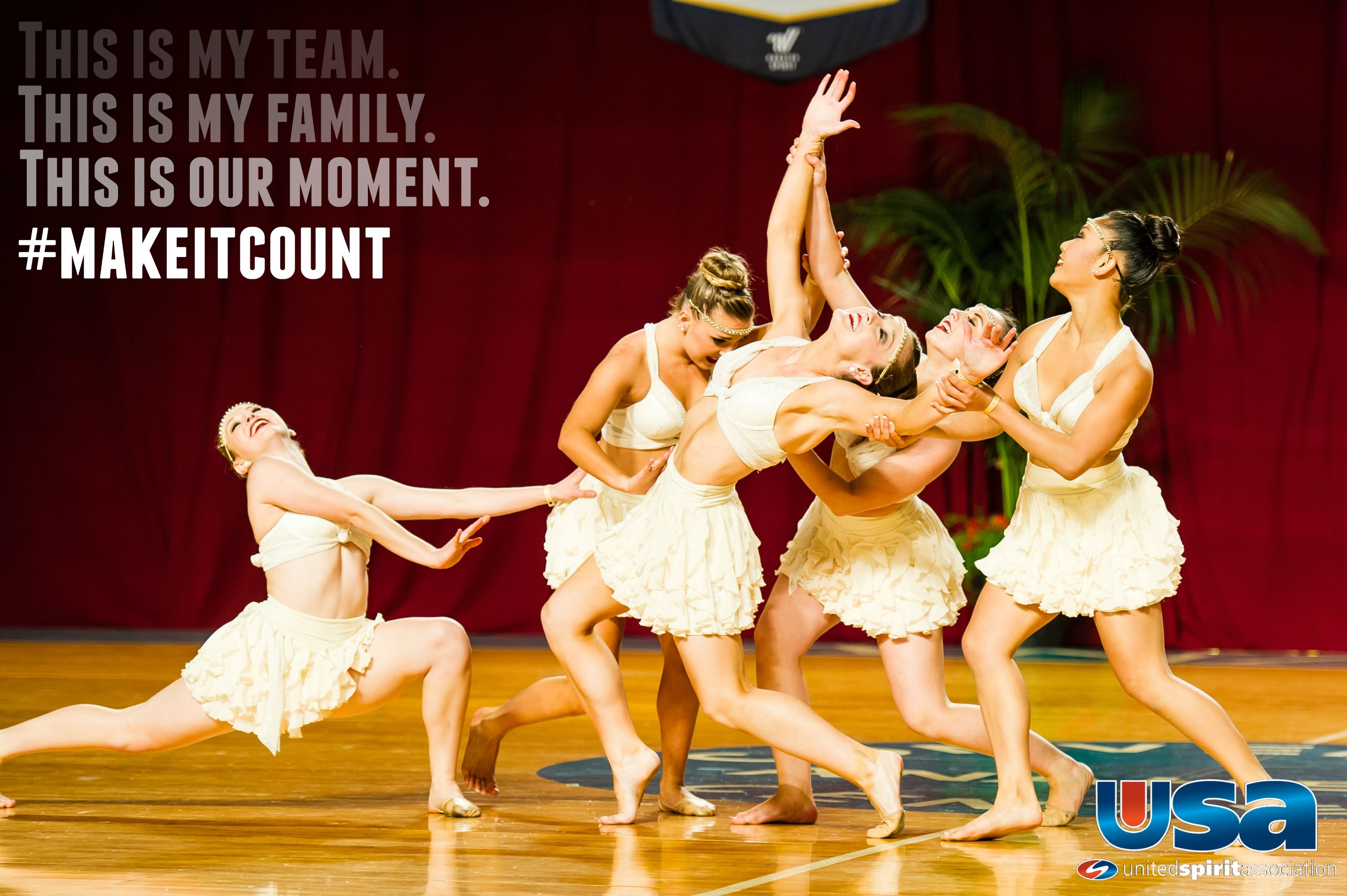 #MakeItCount For more information about USA competitions, Nationals, and Championships, please visit USA.varsity.com!