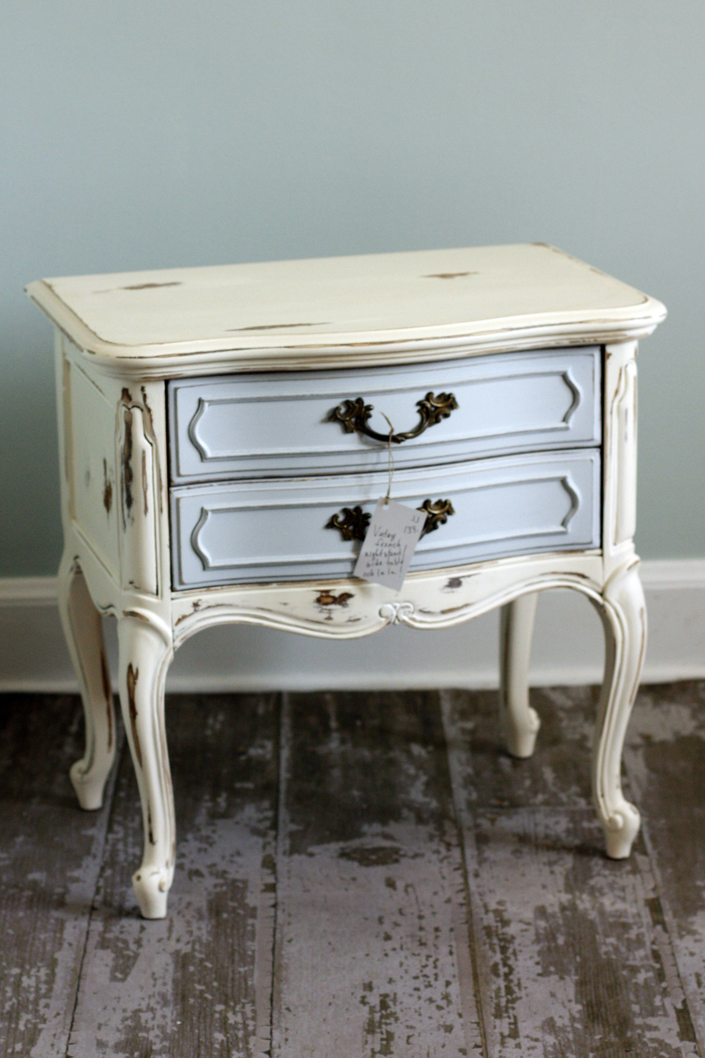 Shabby Chic Vintage Side Table By Junkolgy By Junkie