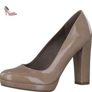 Tamaris 1 1 22435 27 253, Escarpins peep toe femme beige