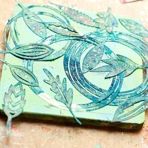 Mixed Media Tutorial: 4 Easy Steps with a Gelli Plate and Masks