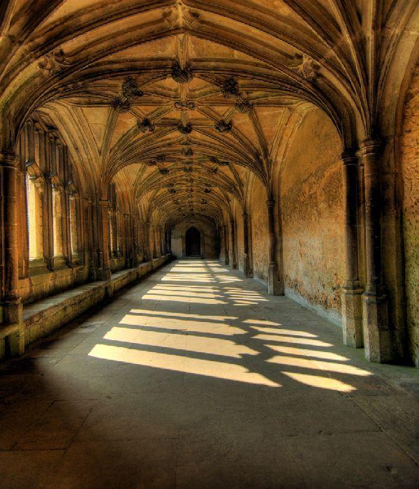 Castle Interior Design Set corridor on the movie set, hogwarts castle, harry potter | my