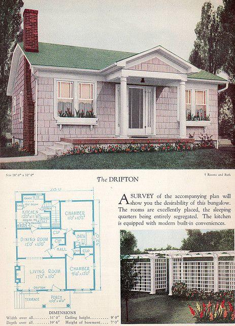 1928 Home Builders Catalog The Drifton Craftsman Style House Plans Craftsman House Plans Vintage House Plans