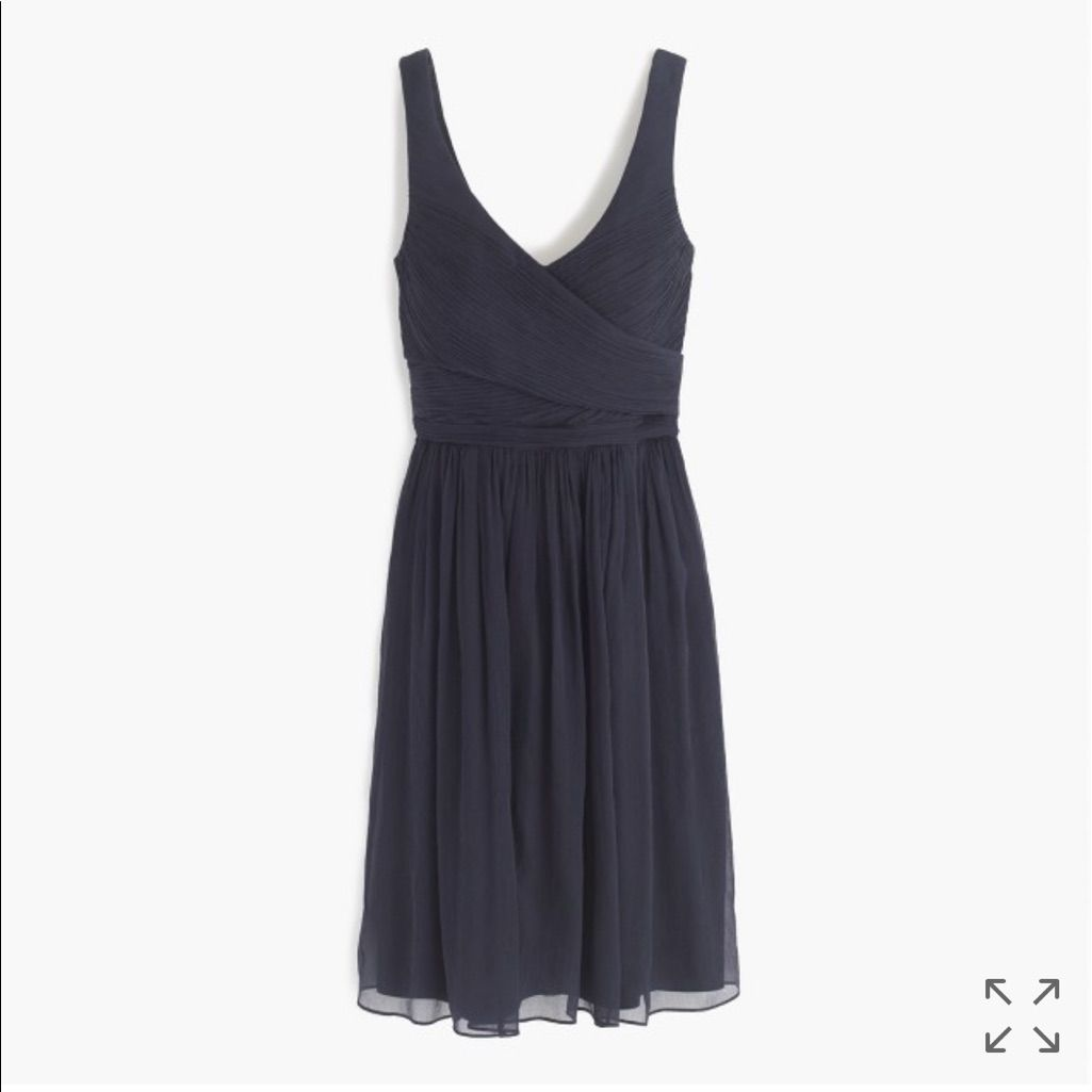 J Crew Black Taffeta Dress