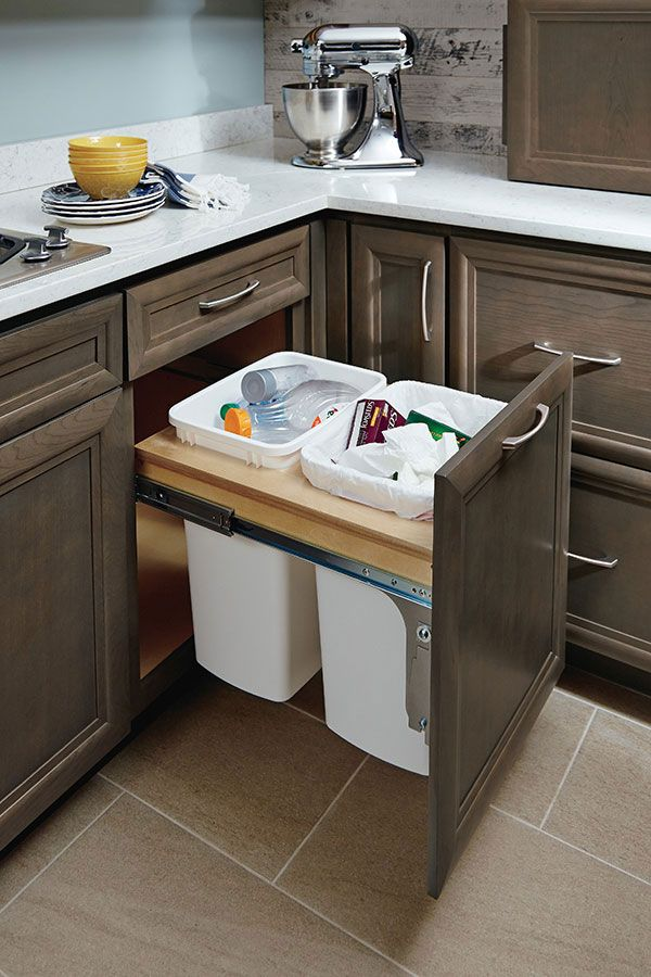 amazing Waste Baskets For Kitchen Cabinets #6: Pinterest