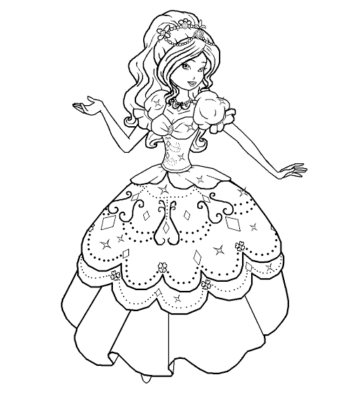 Free Coloring Pages: Barbie And The Three Musketeers Coloring Pages | 565x506