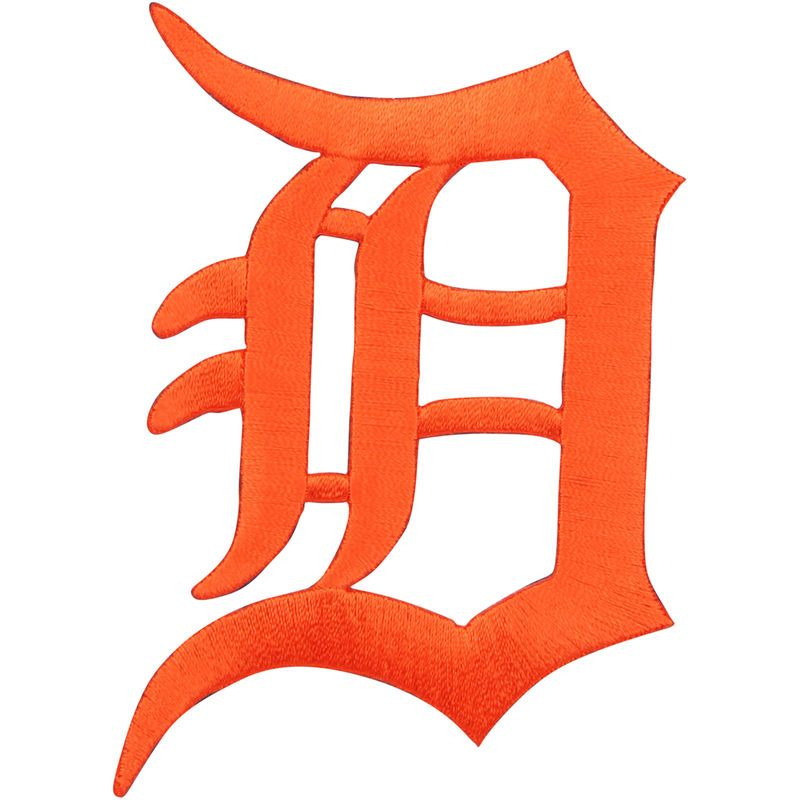 Detroit Tigers Letter Logo Patch - Orange | Fiestas