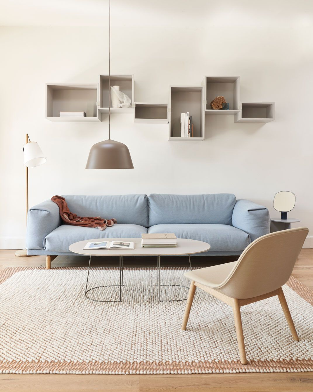 Scandinavian interior design inspiration from muuto rest sofa fiber lounge chair and the airy coffee table