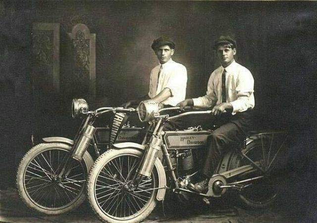 William Harley And Arthur Davidson: William Harley And Arthur Davidson, 1914 #tbt