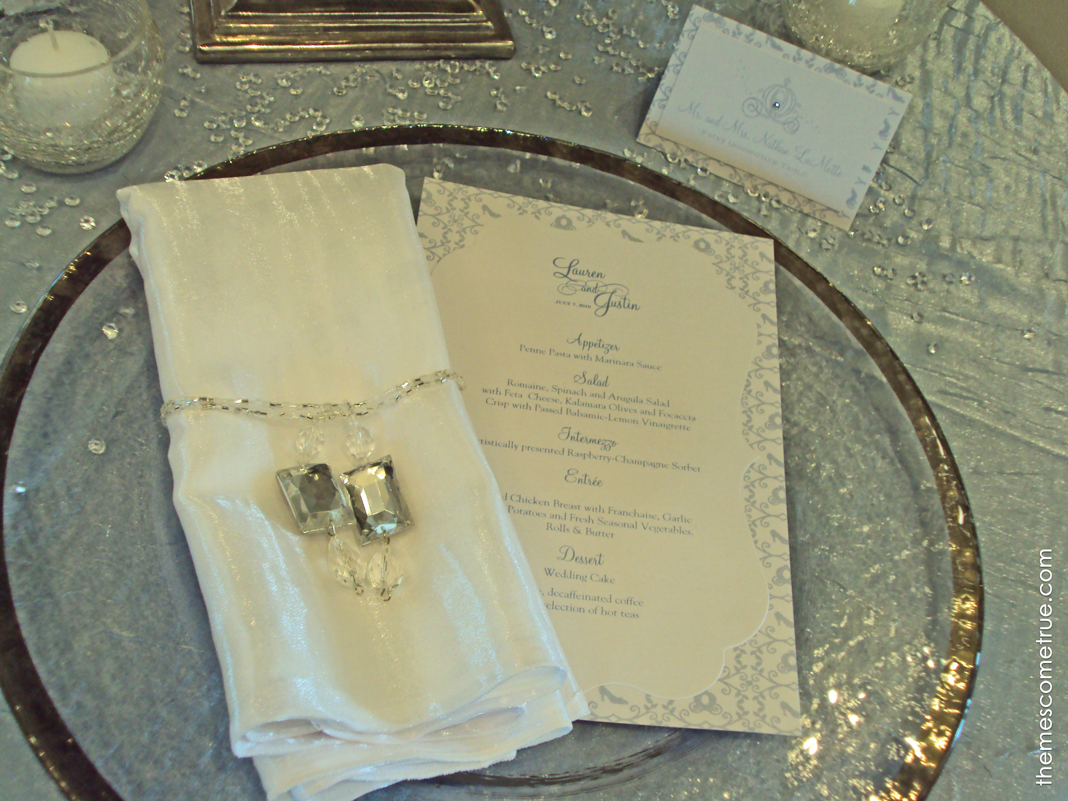 cinderellthemed wedding scroll invitations%0A Elegant menu card and place card for your guests to find their seat easily  Cinderella  WeddingMenu CardsPlace