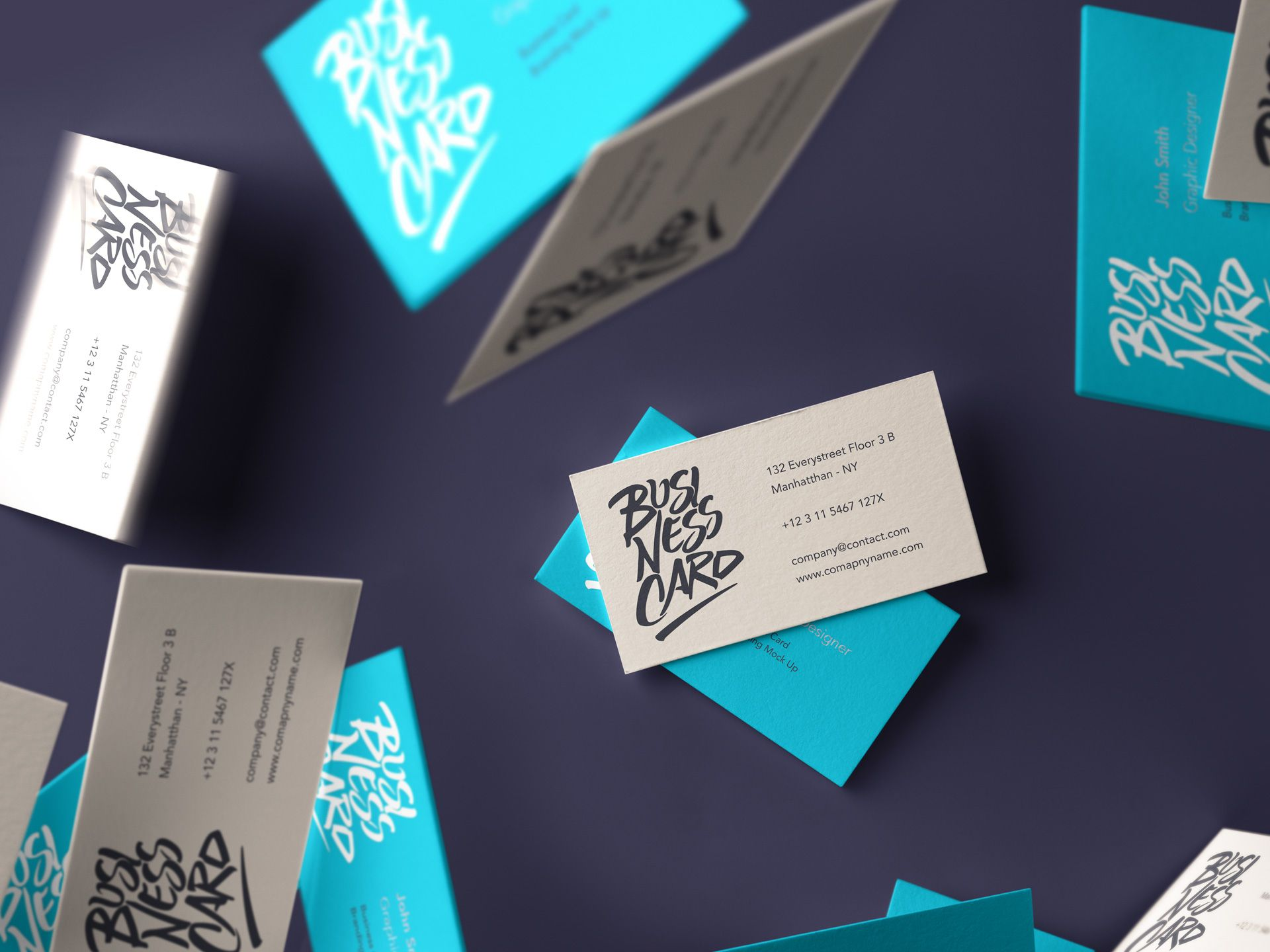 Free Falling Psd Business Card Mockup Mockups PSD Pinterest