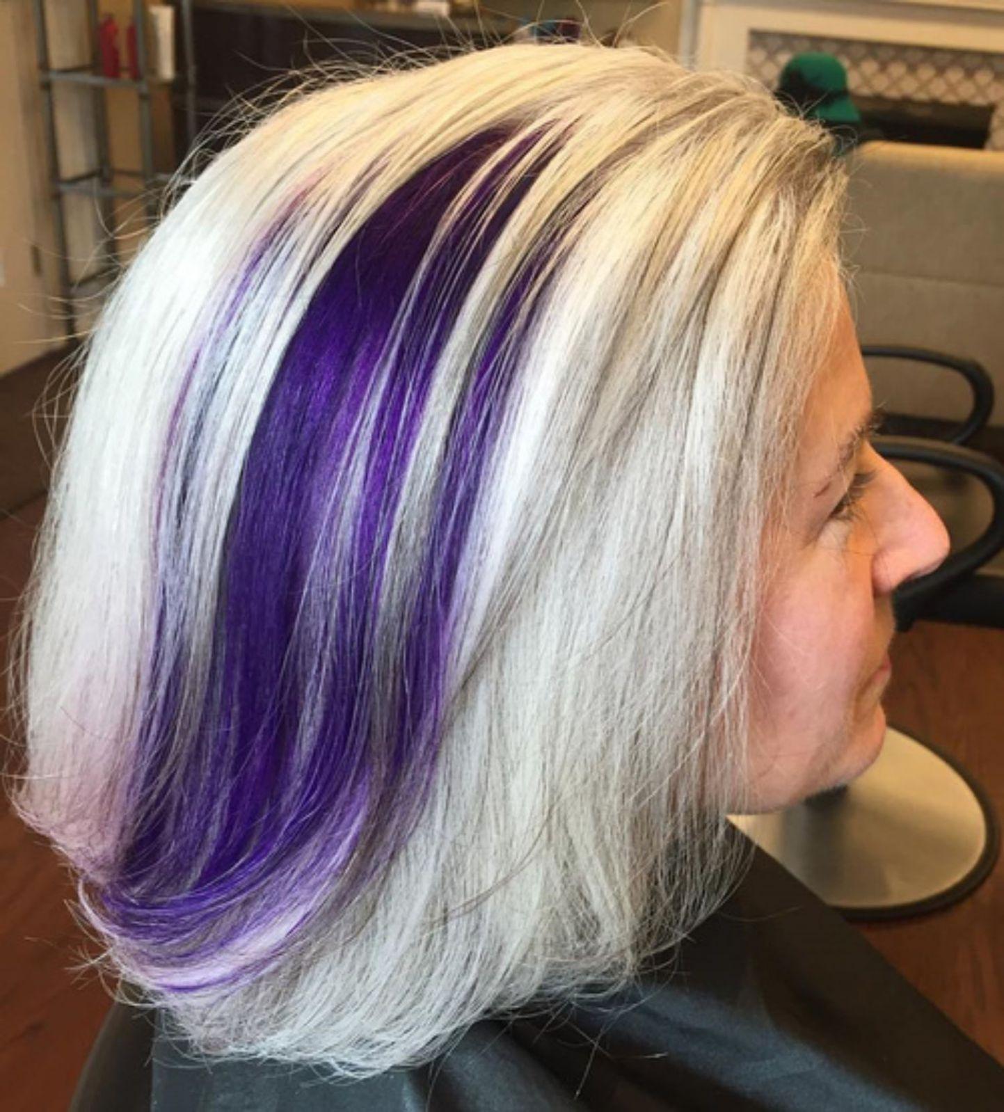 60 Gorgeous Gray Hair Styles Hairstyles Pinterest Purple